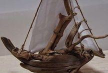 καραβακια με ξυλα θαλασης