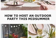 Swedish Summer Party Ideas / In Sweden, 'Midsommar' is one of the biggest celebrations of the year. It's a time for families and friends to come together and spend time outside, celebrating the lightest day of the year with a Midsummer party. With just a few small touches to an outdoor space you can transform it into the perfect dining spot to celebrate, Swedish style. Explore our Swedish Midsummer party ideas to help you throw your own this summer.