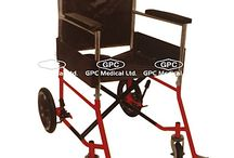 Orthopaedic Walking Aids / GPC Medical Ltd. - Exporter, Manufacturers & Supplier of Walking aids, invalid wheel chair (folding) super deluxe, invalid wheel chair (folding) with commode from India.