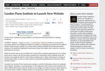 London Piano Institute Press Releases