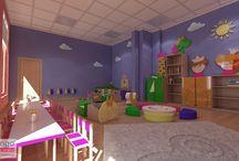 PROJEKT PRZEDSZKOLA / Dzieciństwo to najbardziej beztroski czas życia i powinien być spędzony głownie na zabawie, tym inspirowaliśmy się opracowując projekt wnętrza sali prywatnego przedszkola dla Naszych Milusińkich. Zabawa jako forma edukowania i poznawania świata w przestrzeni komfortowej, przyjaznej, radosnej i bezpiecznej, pozwalającej na jak najlepszy rozwój dziecka.