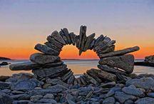 Painted Rock Land Art&Sea Shell Art