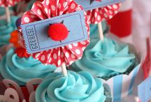 Party themed cup cakes - retro / by Katrina Gilbert
