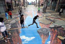 Arte urbano tridimensional