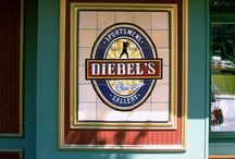 Hand Painted Tile Signs / hand painted ceramic tile murals for interior or outdoor use