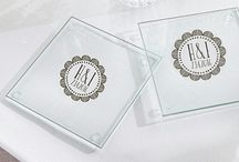 Coasters - Barware / You can't go wrong with coaster wedding favors. They are practical and useful gifts.