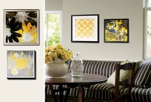 Yellow & Gray / Make your space colorful and bold with yellow and gray accents in furniture, paint and textiles paired with the perfect art. / by Art.com