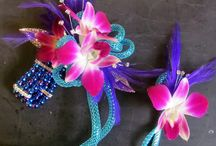 Corsage & Boutonniere pairs / Creative wrist corsages, and their matching boutonnieres! Find your style