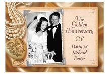 Vintage Anniversary Party Invitations