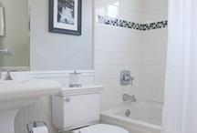 Bathrooms / Ideas for bathroom reno - white and grey theme.
