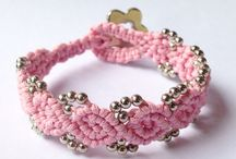 All about Macrame / This is a beautiful bracelet handmade with love using Macrame technique.