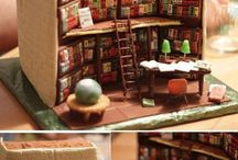 Biblioedibles / Food for thought! Library Cake.