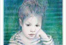 Colored pencils -  fine art / Custom Portraits |  Commissions Portraits |  Commission children portraits |  Girl portrait |  Personalised Portraits |  Professional custom portrait from photo |  Colored pensils fine art