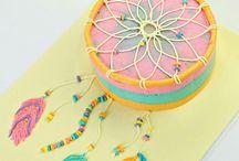 Dream catcher cakes