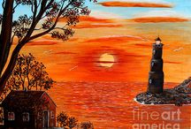 Lighthouses / Lighthouse paintings and photographs