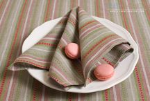 Striped table linens