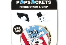 """Popsockets / PopSockets """"pop"""" whenever you need a grip, a stand, an earbud-management system, or just something to play with.GRIP, STAND and MOUNT."""
