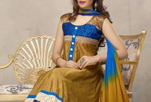 Georgette Anarkali Suit Brown Blue / Today's Exciting Georgette Anarkali Suits Deal for just Rs 1399/- Shop now @ http://enasasta.com/ Call or Whatsapp 08288886065  Hurry up to grab this Nice Deal. Cash on Delivery at Rs 99 extra || Shipping Free all Over India.