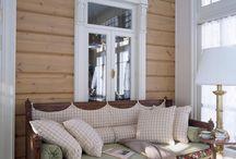 деревянный дом интерьер / Деревянный дом