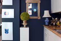 Kitchen / French Blue, Yellow Accents, White, Cream / by Christy Najjar Ntuk