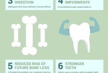 Dental Infographics / Infographics about dental health and oral hygiene.