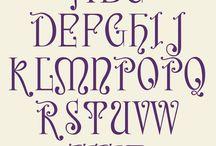 Nerea, Art Nouveau Font / Diseño de una nueva tipografía con estética Art Nouveau, el proceso comenzó en Enero de este año, y poco a poco va cogiendo forma este proyecto tan ambicioso. Hablamos de un set de caracteres muy completo: minúsculas, mayúsculas, versalitas, numeros de caja baja y caja alta, alternativas estilísticas, signos diacríticos, monedas, capitulares...