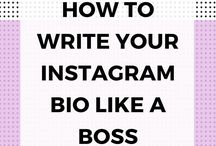 Instagram advice / It teaches to manage and write bio of instragram to get more productivity from account