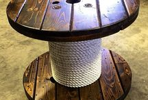 Wooden Spool Table INspiration