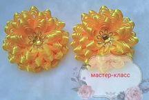 бантики цветочки из лент