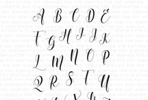 Scripty Alphas (Upper + Lower)