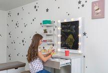 Habitaciones para niños / Las habitaciones más bellas para niños y niñas. Los cuartos más bonitos para niños y niñas. Camas, Camarotes, Montessori, tableros, bibliotecas, centros de entretenimiento, literas, estantería.