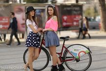 Eco Bicycle - Albania / Capturing random Albanian girls in the roads of Tirana. Women in Albania prefer bicycling to gyms.