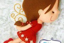 dolls pattern felt, fabric