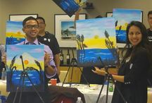 A look at Corporate events / Painting events are perfect for corporate events, team building, office parties.