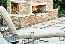 Outside fire place / by Teresa Patterson