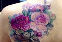 Tatuaż Kwiaty Kolorowe