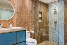 Wood Look Tile for a Rustic Shower