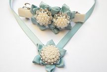 Wedding accessories / Ribbon with chrystals, rhinestones