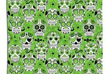 SKULL SHOWER CURTAINS
