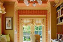 Оранжевый цвет в интерьере / Навеяно осенью... #excll #дизайнинтерьера #решения