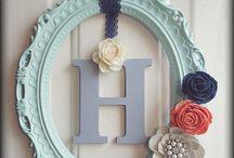 monogram wreaths/signs