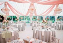 Marquee Decoration Inspiration / Ideas for decorating a marquee - especially if you've booked Silchester House in Berkshire for your big day.