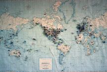 World / Globes, maps, places to go, and places I've been / by Kristi Bower