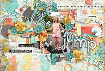 Projects with My Designs / Digital Scrapbook Layouts using Tracie Stroud Mixed Media Designs products