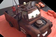 Cakes - cars, trucks, planes and machinery theme