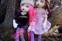 My dolls / These are some of the dolls I have designed and made over the years
