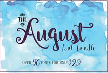 The August Font Bundle / The August Font Bundle includes an amazing 49 fonts, plus two bonus FREE fonts. There are lots of extra graphics and dingbats included as well.  http://www.thehungryjpeg.com/august-font-bundle/