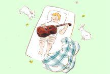 illust / illustraion-kids, animals, lovely things