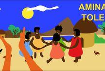 Afrique Jeux de mouvements / Jeux où les enfants tapent des mains en rythme, sautent, dansent et chantent!