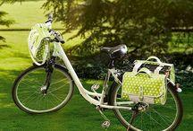 Fahrrad Tasche aus Wachstuch